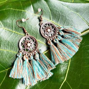 Jewelry - 🆕️Festival Tassel Bohemian Sea Gem Earrings🆕️